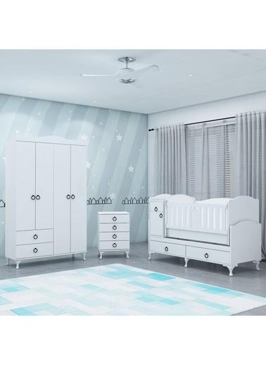 Garaj Home Garaj Home Sude Asansörlü Yıldız 4 Kapaklı Bebek Odası Takımı Renkli